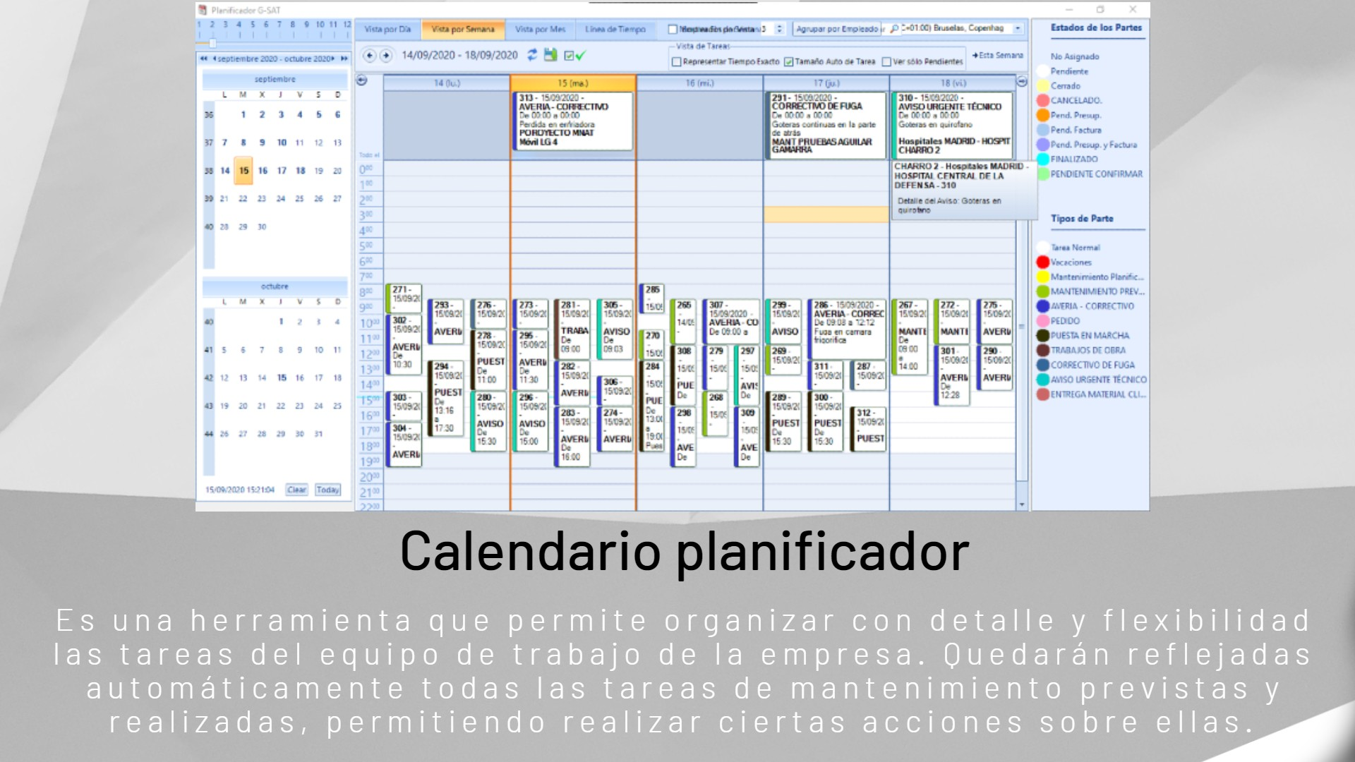 Calendario planificador fondo textura