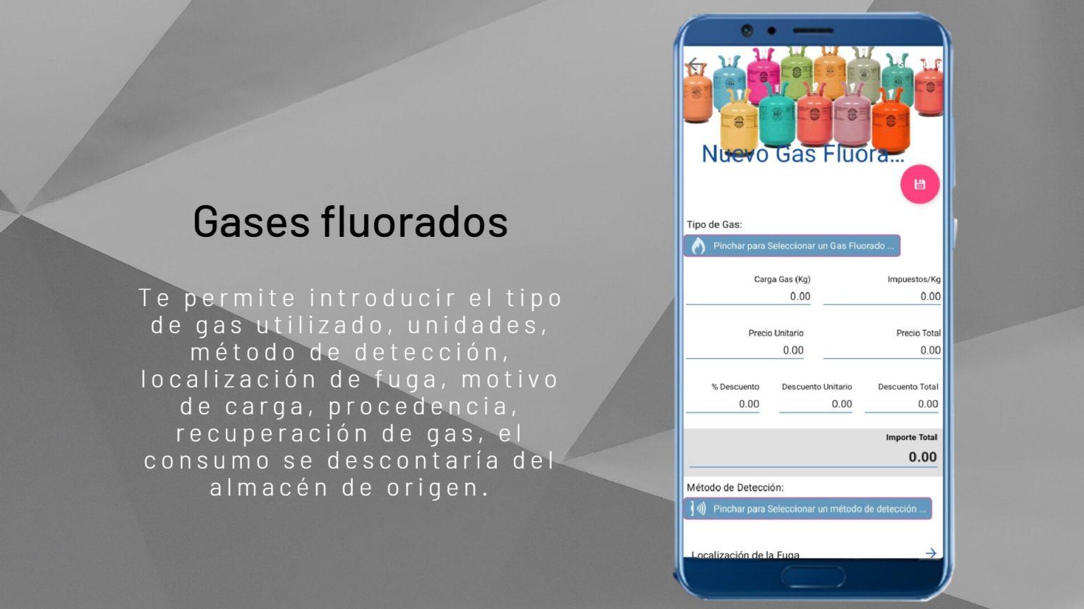 gases fluorados fondo textura