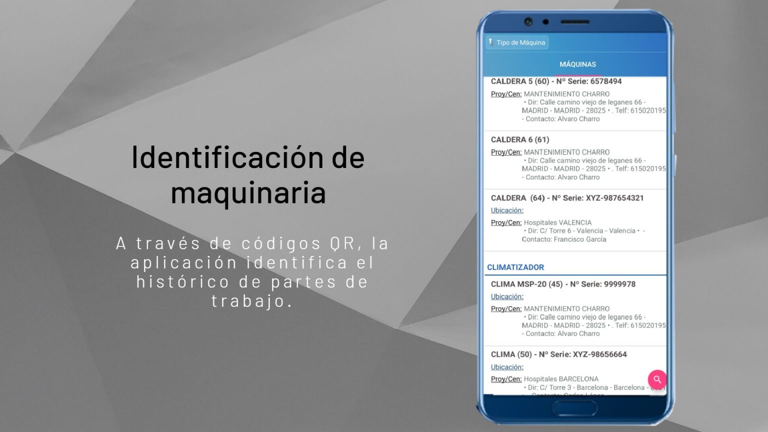 identificación de maq fondo textura